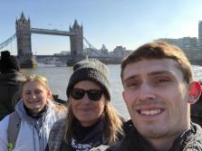 The three of us at the Tower Bridge